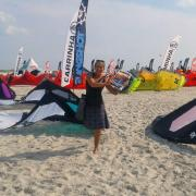 Simone from Funboard Center Boracay among a huge variety of kite brands is testing the new kites 2015.