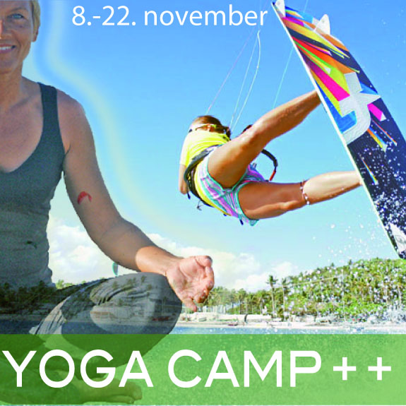 Funboard Center Boracay starts the 1st YOGA CAMP++ and combines kite- and windsurfing classes with Yoga.