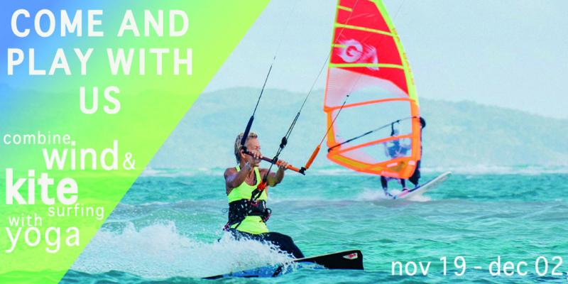Kite Windsurf and Yoga Camp coming November on Boracay Island, Philippines