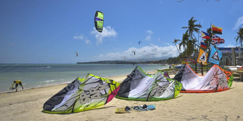 Asia's most attractive kiteboarding and windsurfing spot is located on Boracay Island at Bulabog Beach.