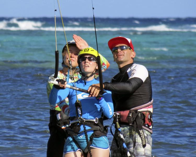 Our kiteinstructor are all IKO certified and the teaching is both fun and safety conscious.