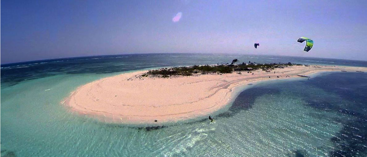On kite-safari with Funboard Center Boracay to Seco Island, Philippines.