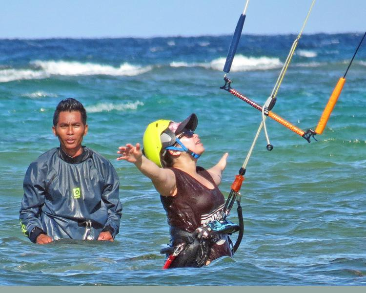 The place to be to learn to kiteboard, where safety has first priority.