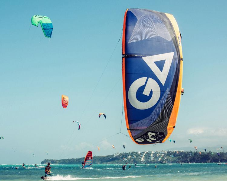 Funboard Center Boracay provides the latest kitesurf equipment for rentals and teaching.