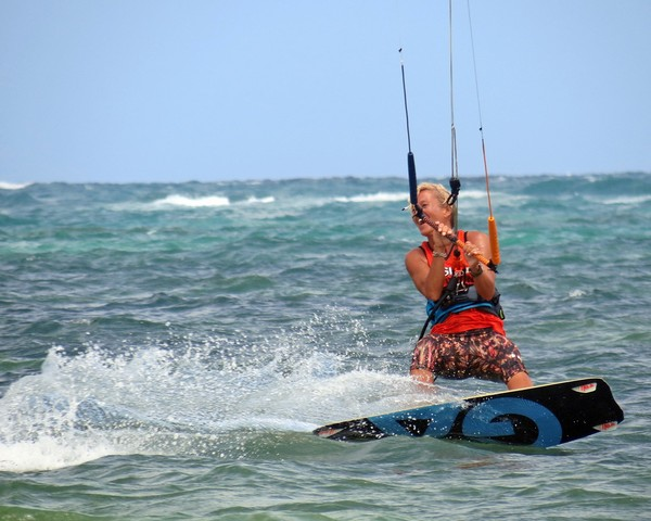 "Big smile for Simone from Funboard Center Boracay after a successsful ""Big Air"""