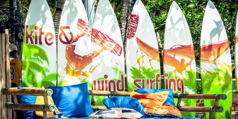 Wind and Kitesurfing under one umbrella at Funboard Center Boracay.