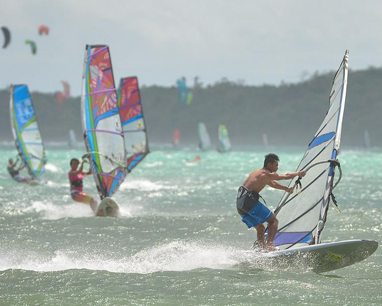 Chinese New year Asian's windsurfer meet at Funboard Center Boracay .