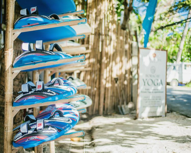 Windsurfing with surfboards from Tabou Boards at Funboard Center Boracay.
