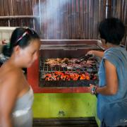 Funboard Center Boracay has BBQ at Union Beach on Panay Island, Philippinen.