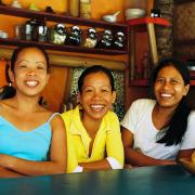 Our girls from Café Tabou gives you a warm welcome at Funboard Center Boracay