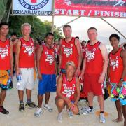 Wind-and Kitesurfers from Funboard Center Boracay after the Red Cross Volunteer Run.