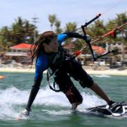 Kiteboarding on Boracay - Flo