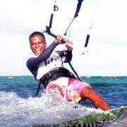Kiteboarding on Boracay - Glen riding