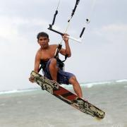Kiteboarding on Boracay - Palong grap